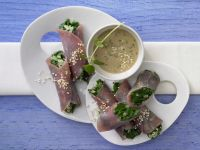 Prosciutto and Spinach Rolls recipe