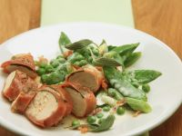 Prosciutto-covered Chicken with Spring Veg recipe