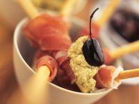 Prosciutto-Wrapped Grissini with Artichoke Butter recipe
