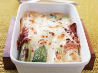 Prosciutto-Wrapped Leek Gratin recipe