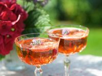 Prosecco with Strawberries and Lavender Flowers recipe