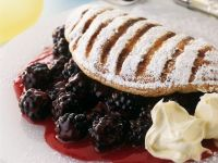 Pudding Omelettes with Blackberries recipe