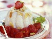 Pudding with Strawberry Compote recipe