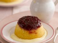 Puddings with Fruit Preserve and Custard recipe