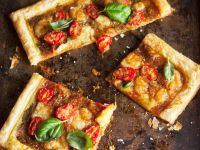 Puff Pastry Cheese and Tomato Tart recipe