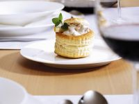 Puff Pastry Cups with Chicken Ragout recipe