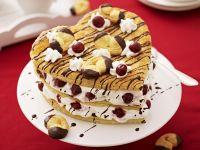 Puff Pastry Heart Cake with Cherries recipe