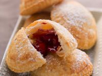 Puff Pastry Pastries with Cherry Filling recipe