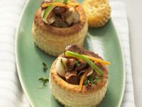 Puff Pastry Pies with Beef and Mushrooms recipe