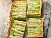 Puff Pastry Tart with Asparagus and Peas recipe