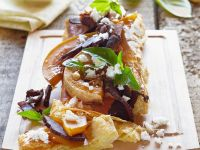 Puff Pastry Tart with Pumpkin, Ham and Cheese recipe