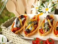 Puff Pastry Tart with Tomatoes and Anchovies recipe