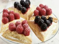 Puff Pastry Triangles with Berries and Cream recipe