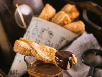 Puff Pastry Twists with Chocolate Sauce recipe