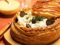Puff Pastry with Egg and Truffle Filling recipe