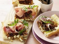 Puff Pastry with Ham, Onions and Feta Cheese recipe
