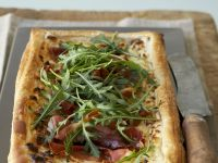 Ham and Soft Cheese Rectangular Tart recipe