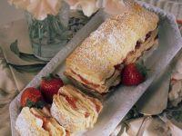 Puff Pastry with Vanilla Custard and Strawberries recipe