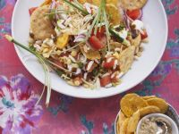 Puffed Rice and Papdis Chaat recipe