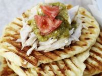Pulled Pork and Salsa Verde Naan Flatbreads recipe