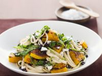 Pumpkin and Arugula Linguine recipe
