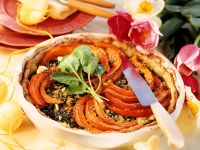 Pumpkin and Spinach Pie recipe