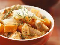 Pumpkin and Turkey Stew Dish recipe