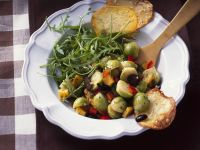 Pumpkin-Brussels Sprouts Salad