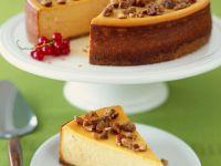 Pumpkin Cheesecake with Caramelized Hazelnuts recipe
