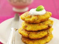 Pumpkin Fritters with Dip recipe