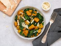 Pumpkin Gnocchi with Spinach recipe