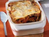 Pumpkin Lasagna with Ground Beef and Leek recipe