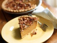 Pumpkin Pie with Nut Topping recipe