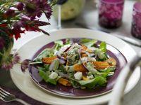 Pumpkin Slices with Salad recipe