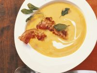 Pumpkin Soup with Bacon and Sage recipe