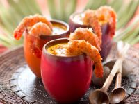 Pumpkin Soup with Coconut Shrimp recipe