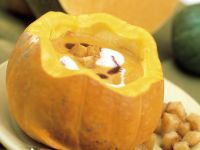 Pumpkin Soup with Croutons recipe