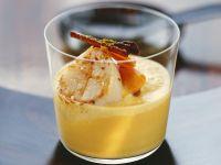 Pumpkin Soup with Scallops recipe
