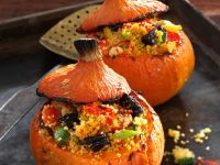 Pumpkins Stuffed with Fruit and Vegetable Couscous recipe