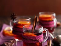 Punch with Orange and Cinnamon Stick recipe