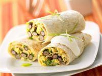 Purple Asparagus and Egg Burritos recipe