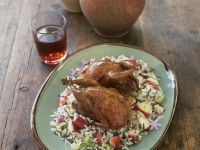 Quail and Wild Rice with Apples and Celery recipe