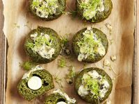 Quail Egg and Spinach Muffins recipe