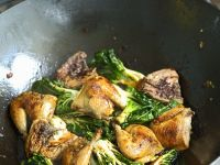 Quail with Bok Choy recipe