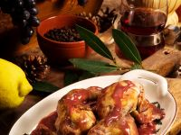 Quail with Red Wine Sauce recipe