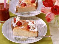 Quark Cake with White Chocolate and Raspberries recipe