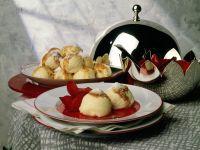 Quark Dumplings with Plum Compote recipe