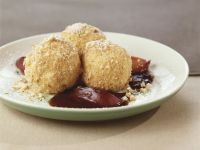 Quark Dumplings with Plum Sauce recipe