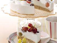 Quark-nut Torte with Grapes recipe