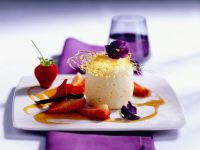 Quark Souffle with Caramel and Strawberries recipe